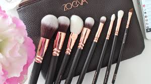 review zoeva luxe plete makeup brushes set