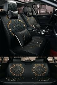 car seats seat car covers classic luxury design with beautiful gold ts universal black lines