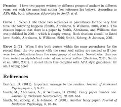 Apa Style Edition 6 Citations With Biblatex Apa Same Lead Author Yet Actually