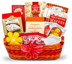 chance to win a gourmet spring snacks garden gift basket
