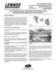 lennox hearth edv3530 series user manual 4 pages also for edv4540 series edv4035 series