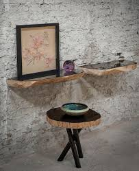 view in gallery exquisite tree trunk shelves with a modern polished surface