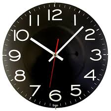 timekeeper products  in black wall clock with quartz