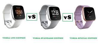 Fitbit Versa Lite Vs Versa Vs Versa Special Edition Compared