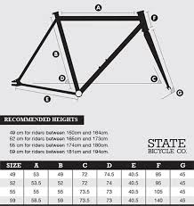 Fixed Gear Bike Frame Size Chart Bike Size Chart How To Measure Urbain Bike Size