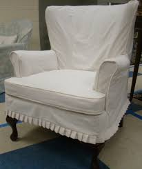 white wingback chair. House Fancy Wingback Chair Slipcover 14 Great Linen A34f On Rustic Home Decor Ideas With Blue White T