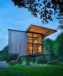 Small Picture Steel Cabin Design in the Woods Cabin Modern and Tiny cabins