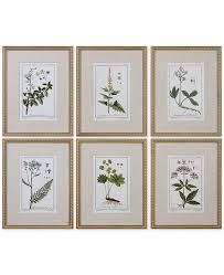 main image main image  on wall art set of 6 with uttermost green floral botanical study wall art set of 6 wall art