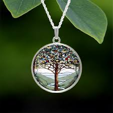 tiffany tree of life small pendant
