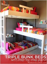 Triple Bunk Beds (with plans!)   Wooden initials, Bunk bed plans ...