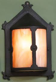 arts and crafts exterior wall lighting. materials unlimited - 610212 antique arts and crafts exterior wall sconce with stained glass, lighting p