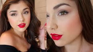 tutorial miranda kerr inspired makeup with red lips chloé zadori you