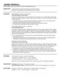 Outbound Sales Representative Resume Example Templates Inbound