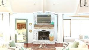 extraordinary mount tv on brick how to mount a over a brick fireplace and hide the