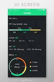 Chart Interface Health Data Sports App Ui Template Psd