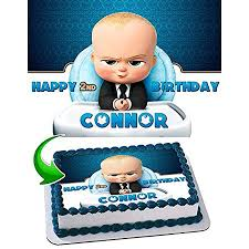 Boss Baby Cake Edible Image Cake Topper Personalized Birthday 14