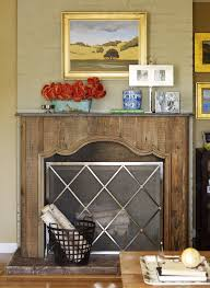 fireplace screen simple and looks effective