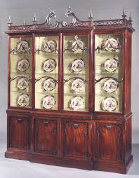 Chippendale China Cabinet An Important George Ii Mahogany China Cabinet To A Design By