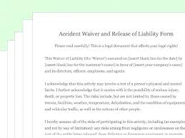 Liability Waiver Form Template Free Sports Liability Waiver Form Template Forms Mte4mzu
