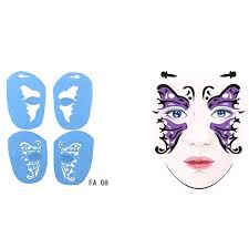 1pc soft face paint stencil reusable template tattoo painting drawing mold makeup tool diy design for