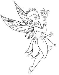 Great Disney Fairies Coloring Pages 75 On Free Coloring Book With ...