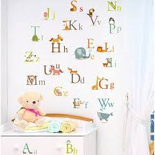 educational alphabet wall decals for