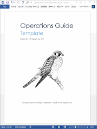 Operations Guide Template Ms Word Excel Templates Forms