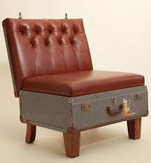 furniture repurpose ideas. Reuse Old Suitcase Red Leather Armchair Diy Recycling Ideas Furniture Repurpose