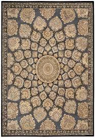 fantasy ivory fl area rug nourison rugs somerset latte