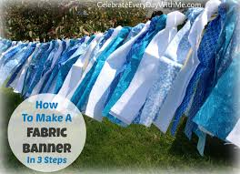 Fabric banners diy Sew How To Make Fabric Banner In Steps Celebrate Every Day With Me How To Make Fabric Banner In Steps Celebrate Every Day With Me