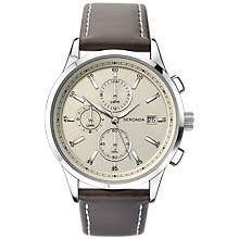 leather men s watches john lewis buy sekonda 1394 27 men s chronograph date leather strap watch dark brown cream online at