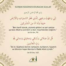"İslam ve İhsan on Twitter: ""Kurban keserken okunacak dualar:  https://t.co/sFVOsHrY8n… """
