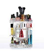 cozihoma acrylic makeup organizer multi function acrylic carousel makeup holder cosmetic storage fits for lots