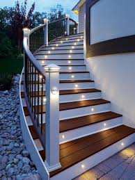 outdoor stair lighting lounge. A Lighted Staircase May Be The Perfect Touch To Your Outdoor Space. This Lighting Comes In Multiple Colors And Can Fitted Existing Deck As Well. Stair Lounge S