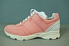 chanel tennis shoes. chanel 40 salmon pink canvas leather lace up sneakers tennis shoes trainers new chanel