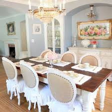 round country antique white dining table designs
