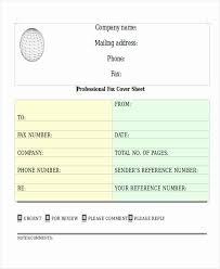 Professional Fax Cover Sheet Bkperennials