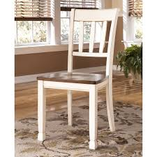 signature design by ashley whitesburg two tone dining room side chair set