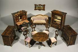 dolls furniture set. Antique Dollhouse Rosewood Furniture Set , Waltershausen Dolls