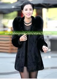 fur coat plus size s women winter hooded fake fur coats plus size vintage artificial black
