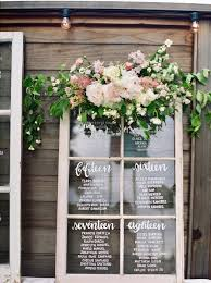 Vintage Window Glass Seating Chart In 2019 Rustic Seating