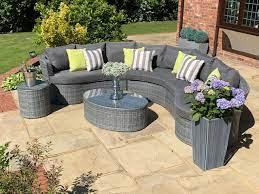 naples curved rattan complete sofa set