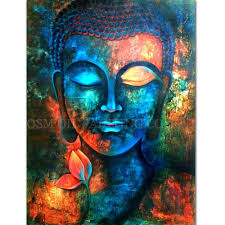 professional artist handmade high quality buddha oil painting on canvas rich colors canvas buddha painting for living room funny gifts for short people
