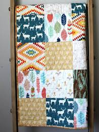 rustic baby quilt feather baby bedding gender neutral quilt deer feather arrow rustic nursery feather baby quilt rustic blanket tribal quilt