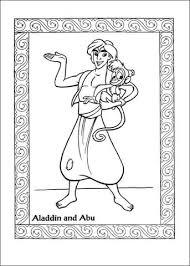 Disegno Di Aladdin E Abu Da Colorare Disegni Da Colorare E