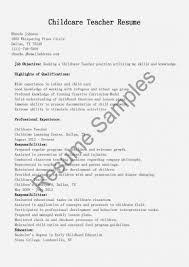 Resume Categories Best Resume For Child Care Job Luxury Daycare Resume On Resume Categories