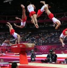 Опорный прыжок через козла Олимпийский игры