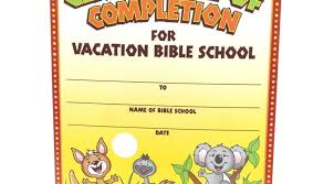 Vbs Certificate Template Certificate Templates Free Vacation Bible School