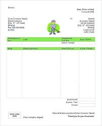 Simple Free Cleaning Service Invoice Templates Word Template