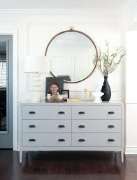 White Bedroom Dresser Inspired By Round Mirrors Cottage Style House ...
